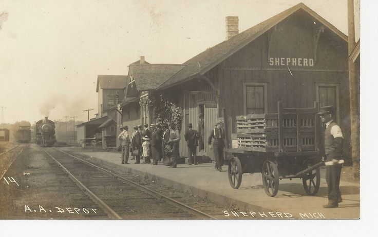 Shepherd Michigan train depot