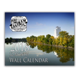 2018 pure saginaw wall calendar