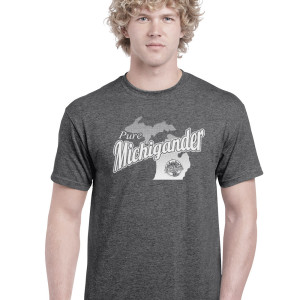 Pure Michigander t-shirt dark heather gray