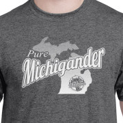 Pure Michigander t-shirt dark heather gray c